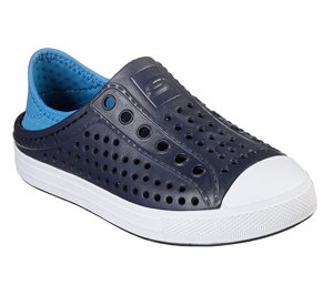 Blue Navy Skechers Guzman Steps - Aqua Surge - FINAL SALE