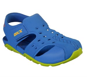 Green Blue Skechers Side Wave