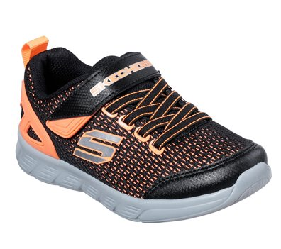 Orange Black Skechers Comfy Flex - Interdrift