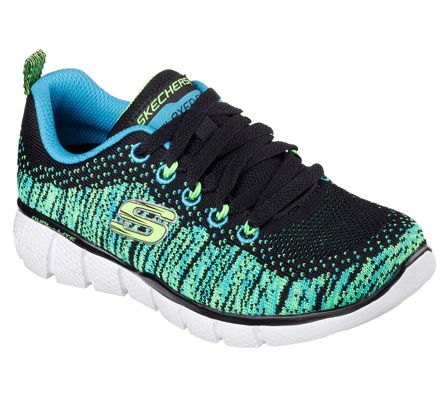 Skechers Equalizer 2 0 Perfect Game In Green Black Skechers Childrens Athletic On Shoeline Com