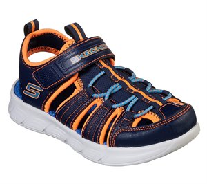Orange Navy Skechers C-Flex Sandal