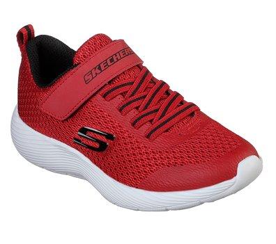 163911ede332 Skechers Dyna-Lite in Black Red - Skechers Childrens Athletic on ...