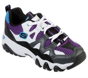 Black Gray Skechers D'Lites 2 - Tidal Wave