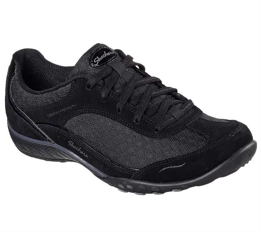 Skechers Relaxed Fit; Breathe Easy - Simply Sincere : Black - Womens
