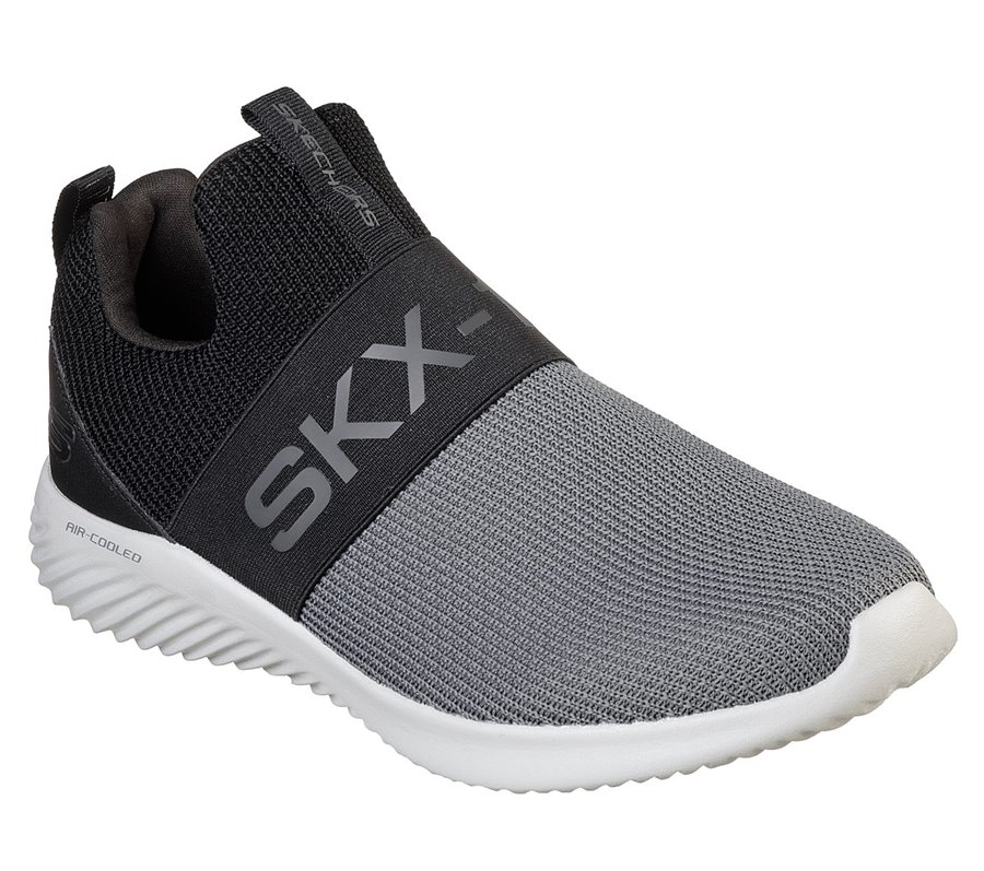Skechers Bounder - Wolfston : Black Gray - Mens