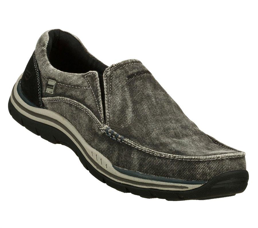 Skechers Relaxed Fit: Expected - Avillo : Black - Mens