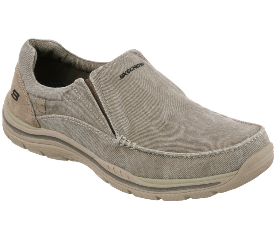 Skechers Relaxed Fit: Expected - Avillo : Natural - Mens