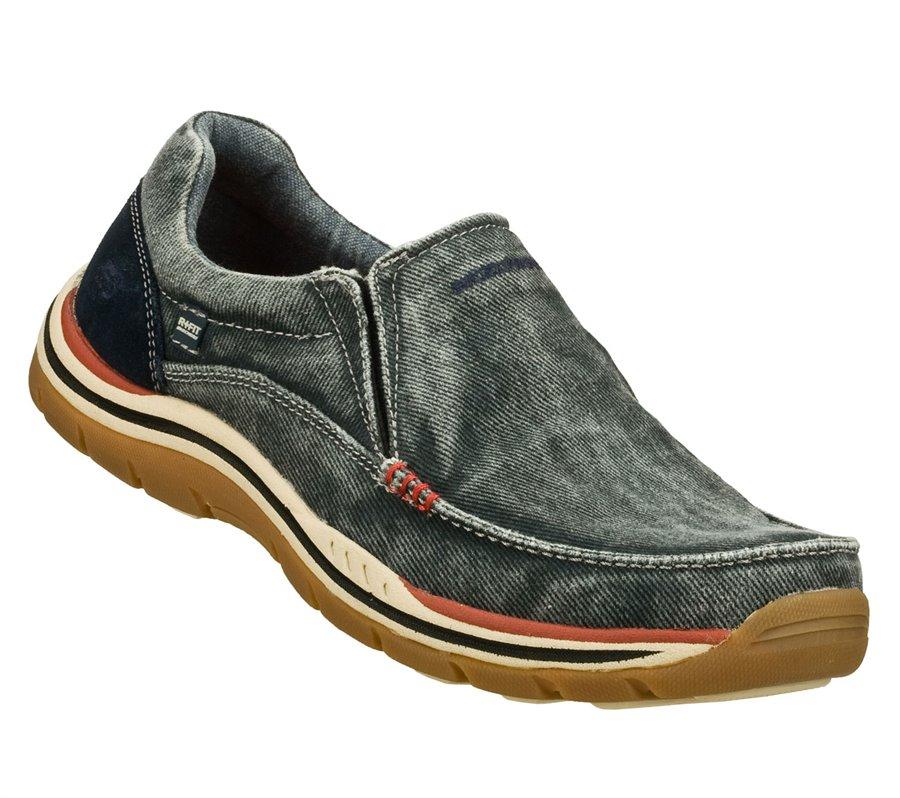 Skechers Relaxed Fit: Expected - Avillo : Navy - Mens
