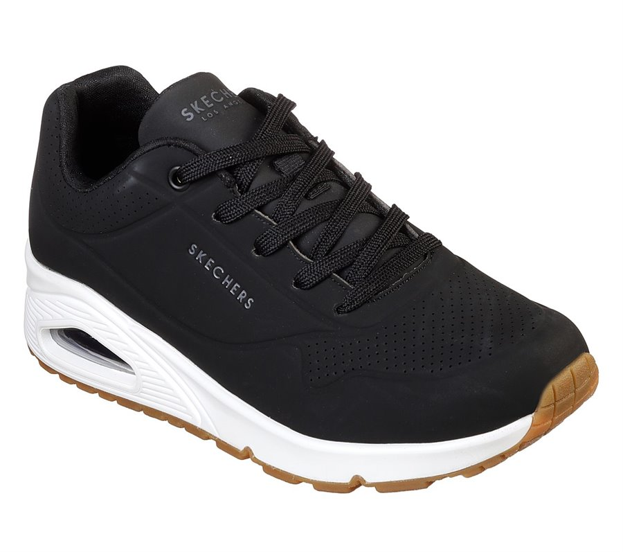 Skechers Uno - Stand on Air : Black - Womens