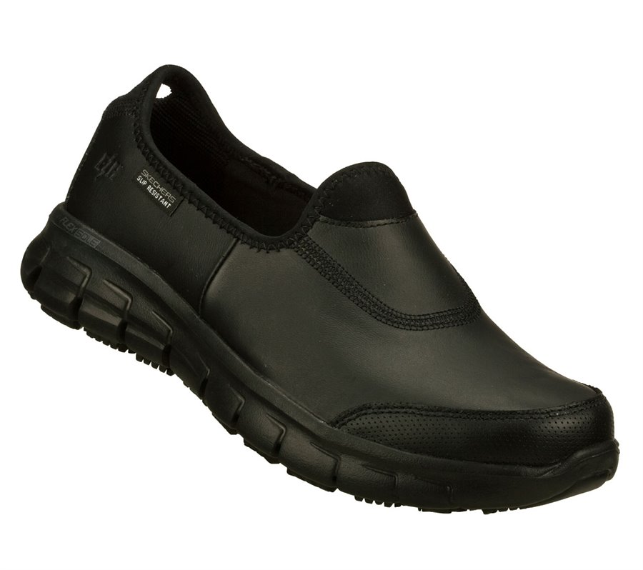 Skechers Work: Relaxed Fit - Sure Track : Black - Womens