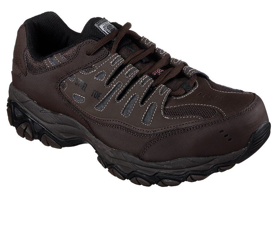 Skechers Work Relaxed Fit: Crankton ST : Brown - Mens