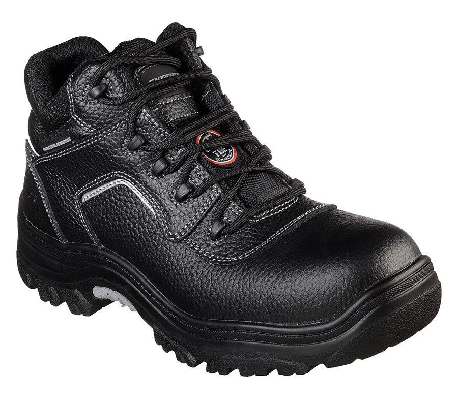 Skechers Work Relaxed Fit: Burgin - Sosder Comp Toe : BLACK - Mens