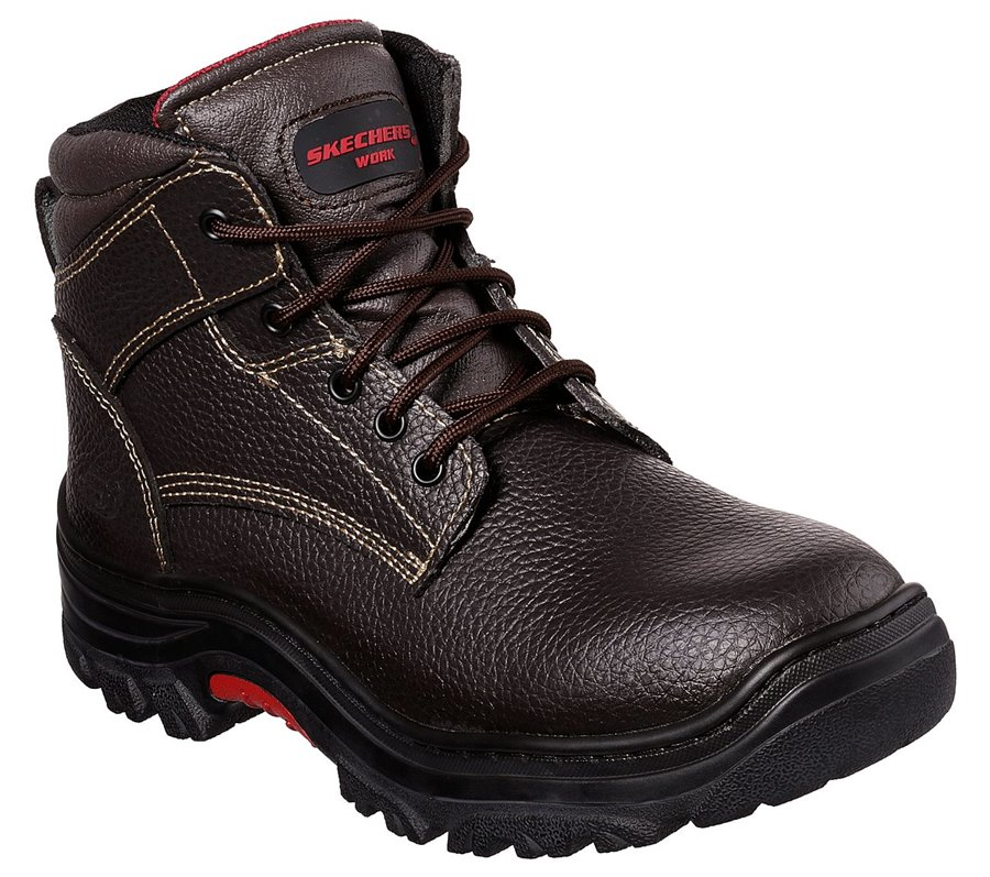 Skechers Work Relaxed Fit: Burgin - Congaree : Brown - Mens
