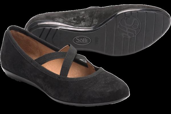 Retro Vintage Flats and Low Heel Shoes Sofft Barris  Black - Womens $89.95 AT vintagedancer.com
