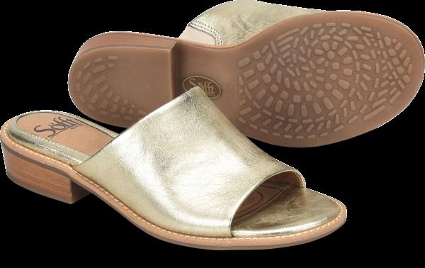 Vintage Sandals | Wedges, Espadrilles – 30s, 40s, 50s, 60s, 70s Sofft Nola  Light Gold - Womens $103.95 AT vintagedancer.com