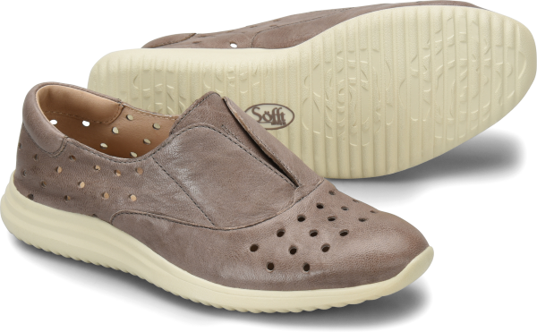 A fresh slip-on in premium Italian leather with a sport silhouette. Perforated to keep you cool.   Offered in Italian full-grain leather  Leather lining  Molded contoured foam footbed with soft microfiber lining  Soft PU outsole for ultra flexibility  Heel Height: 1 1/2 inches
