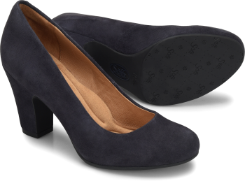 Madina in Navy Suede