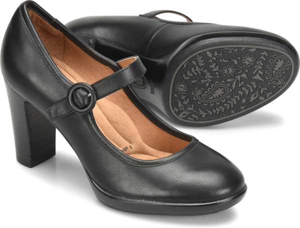 1940s Style Shoes, 40s Shoes Sofft Natara  Black - Womens $99.95 AT vintagedancer.com