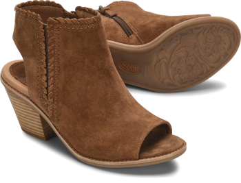 Maleigha in Light Brown Suede