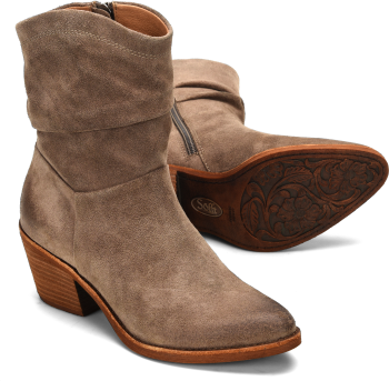 Aronna in Taupe Suede