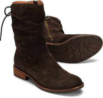 Sharnell-Low in Dark Brown Suede