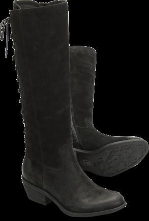 Sharnell-Heel in Black Suede