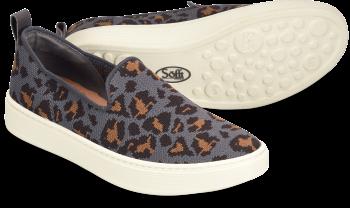Somers-Slip-On-Knit in Grey Leopard