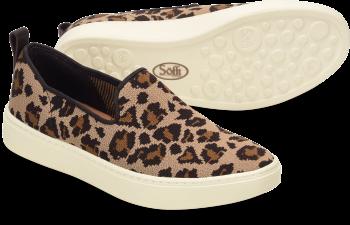 Somers-Slip-On-Knit in Tan Leopard Black