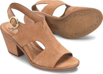 Maben in Saddle Brown Suede