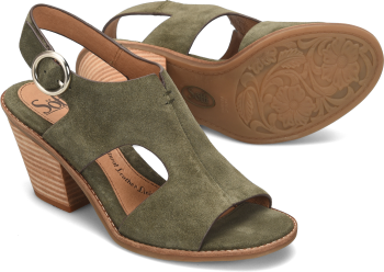 Maben in Army Green Suede