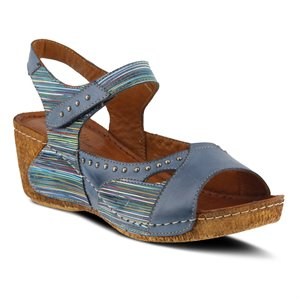 Blue Multi Spring Step Jaslyn