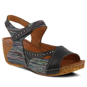 Black Multi Spring Step Jaslyn