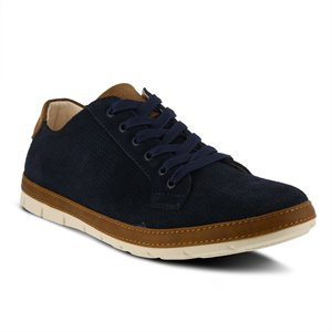 Navy Suede Spring Step Marshall