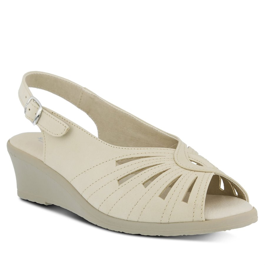 1940s Clothing Spring Step Womens Shoes - Gail in Beige $89.99 AT vintagedancer.com