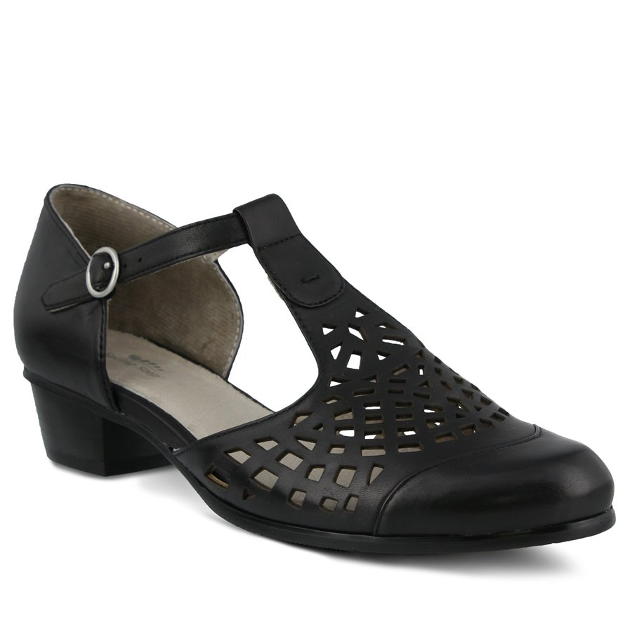 History of Roaring 20s Shoes Spring Step Womens Shoes - Maiche in Black $139.99 AT vintagedancer.com