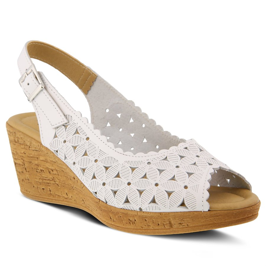Vintage Style Shoes, Vintage Inspired Shoes Spring Step Womens Shoes - MALANA in White $69.99 AT vintagedancer.com