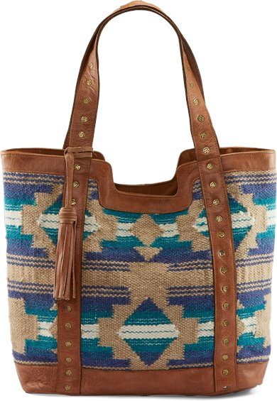 Image for TONY LAMA TOTE-AZTEC TURQUOISE ; Style# 1877538T