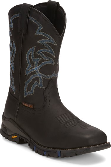 86ee4e97a9a TONY LAMA BOOTS #TW5002 ROUSTABOUT BLACK STEEL TOE