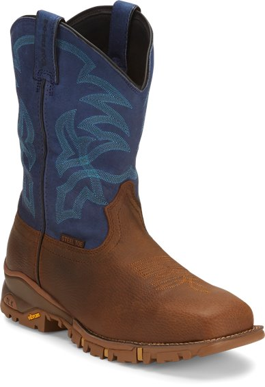 Image for ROUSTABOUT BLUE STEEL TOE WATERPROOF boot; Style# TW5010