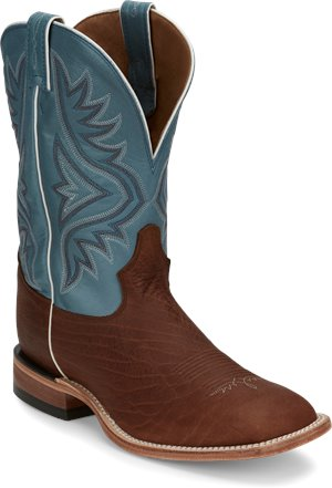 Medium Brown Tony Lama Boots Avett Blue