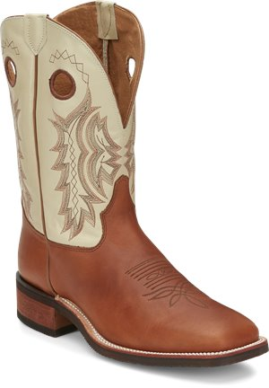 Medium Brown Tony Lama Boots Creedance Cream