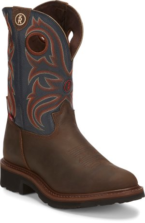 Blue Bayou/Oak Crazy Horse Tony Lama Boots Snyder Blue