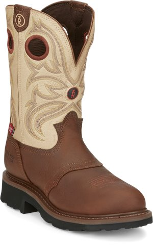 Beige Bayou/Sienna Grizzly Tony Lama Boots Snyder Cream