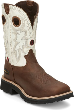 Medium Brown Tony Lama Boots Midland White