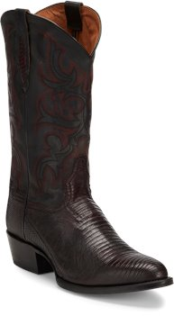 Black Tony Lama Boots Caprock Black