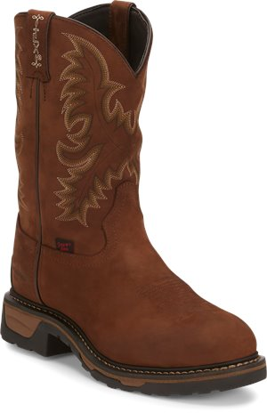 Tan Cheyenne Tony Lama Boots Panhandle Steel Toe