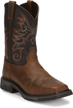 Medium Brown Tony Lama Boots Diboll Comp Toe