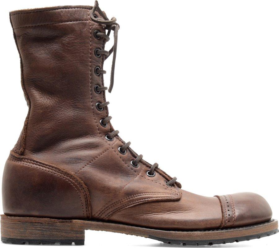 Vintage Nathaniel Jump Boot In Chocolate Vintage Mens