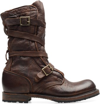 Dark Brown Vintage Jennifer  Tanker Boot