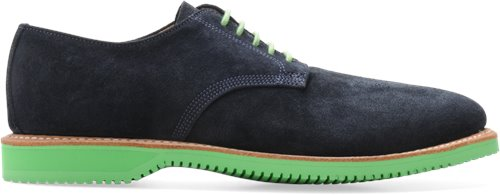 Navy Suede Bright Green Bottom Walk-Over Chase